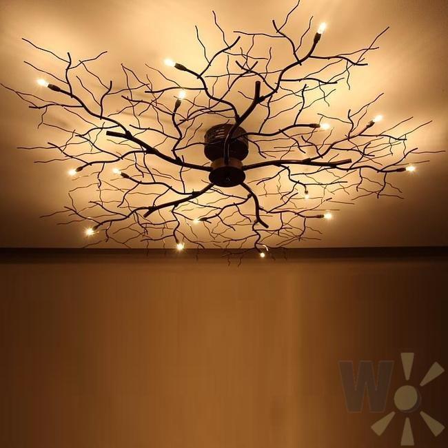 lampe mit blättern und ästen GoogleSuche Lampen decke