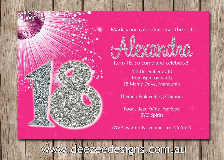 18th Birthday Invitation Ideas Unique 18th Birthday Invitation Card Birthday Invitations Personalized Birthday Invitations Invitation Card Birthday