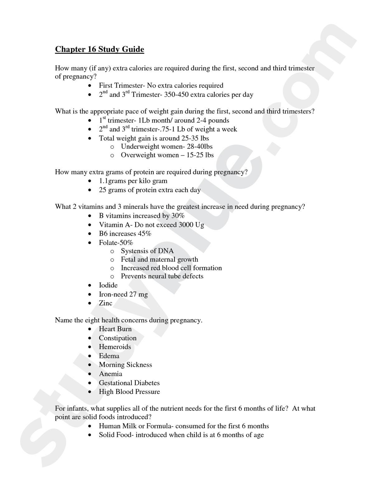 nutrition through life cycle study guide pregnancy hnfe 2014 rh pinterest com Anatomy and Physiology Study Guide Anatomy and Physiology Study Guide