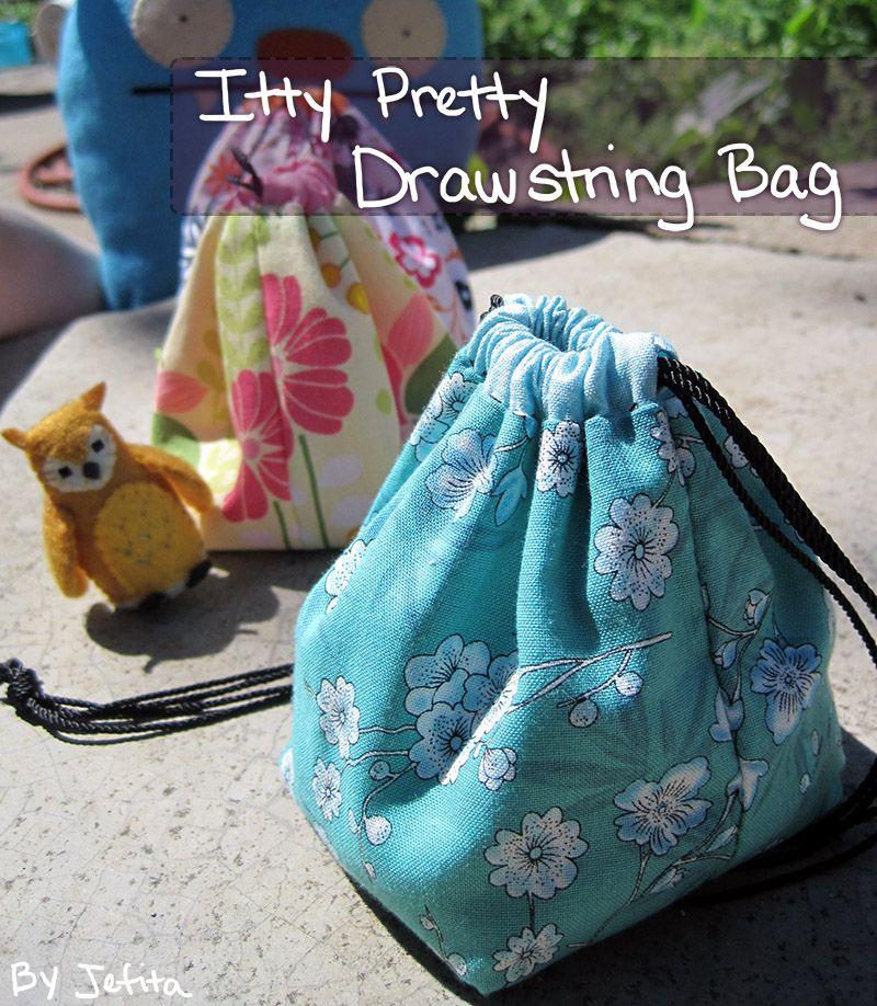 DIY Itty Pretty Drawstring Bags   Chronicles of Jefita   Sewing ...
