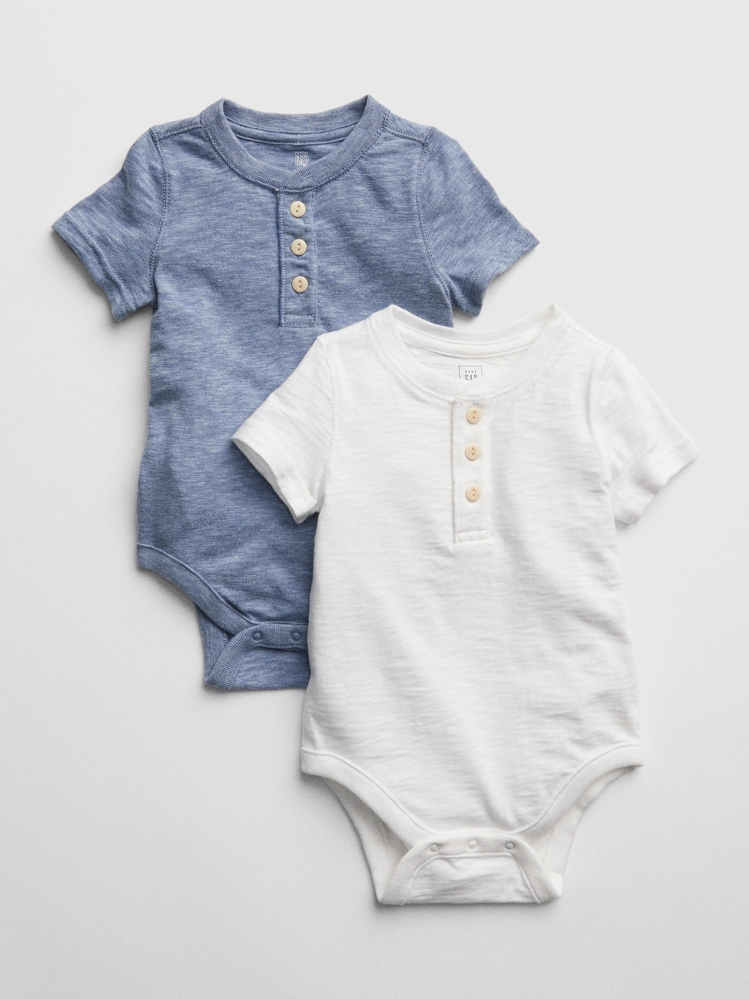 NWT Ralph Lauren Baby Boy Set Of 2 Cotton Bodysuits Heather Gray Size 3 Months