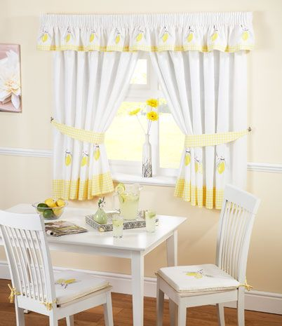 Home Expressions Lemon Zest Rod Pocket Tie Up Valance Kitchen Valances Apple Kitchen Decor Yellow Kitchen Curtains