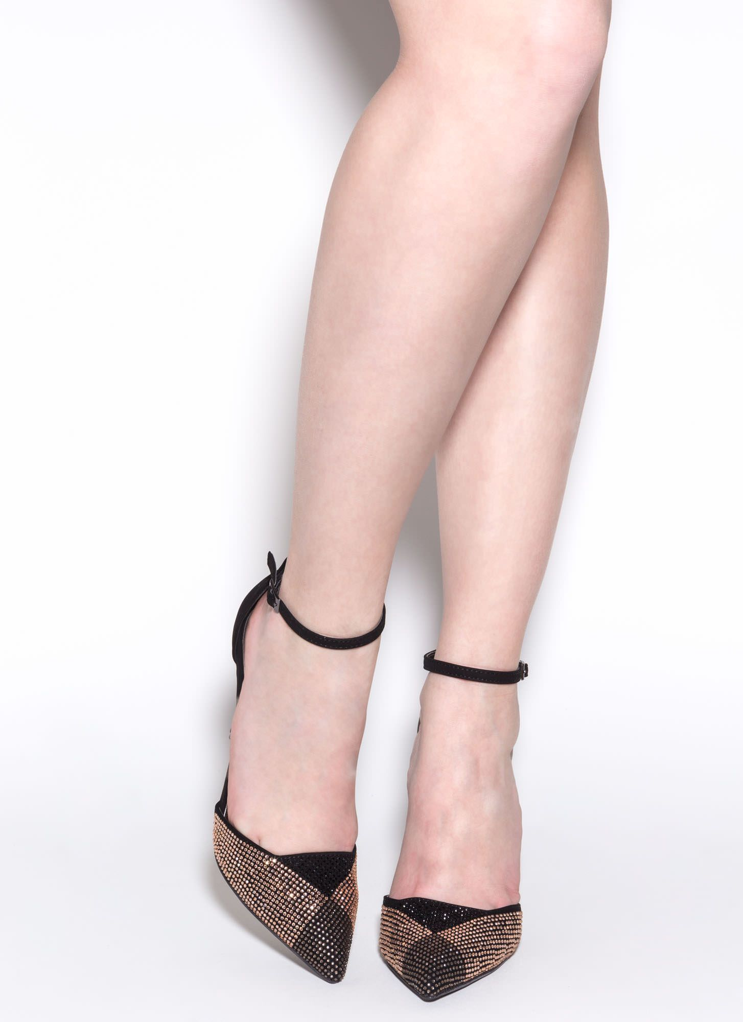 ede57605b4 $19 Point Out The Bling Faux Nubuck Heels GoJane.com   Heels to Die ...