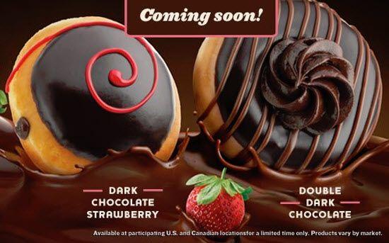 Krispy Kreme to launch two Dark Chocolate Doughnuts