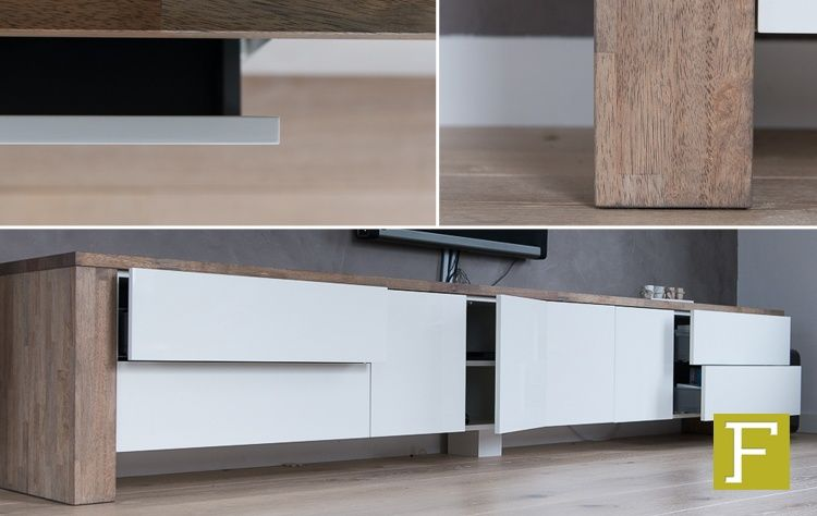 Tv Meubel Wit Noten.Pin On Tv Project