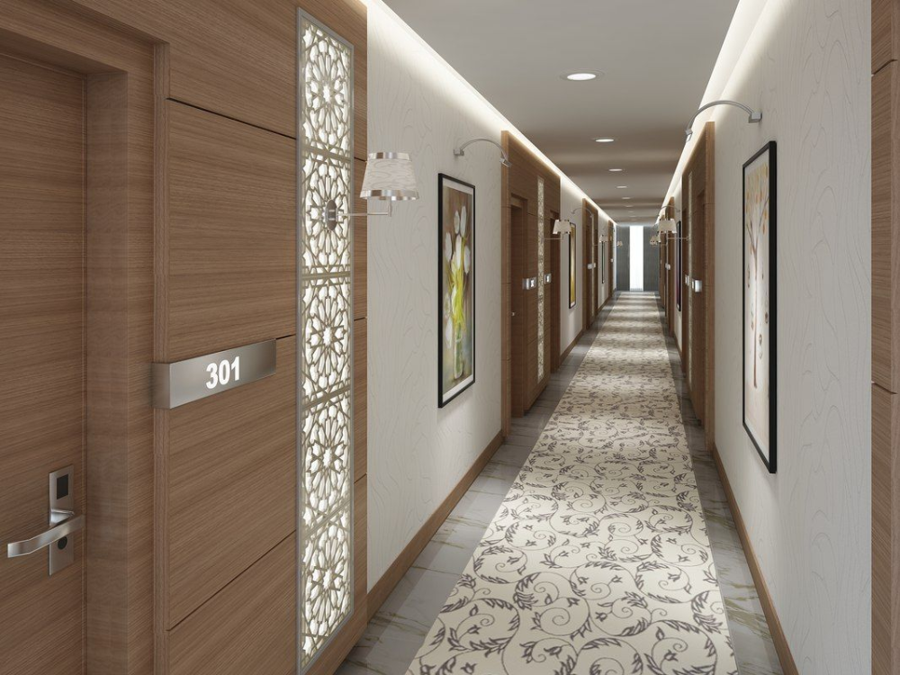 apartment building hallway design - Google Search in 2020 ...
