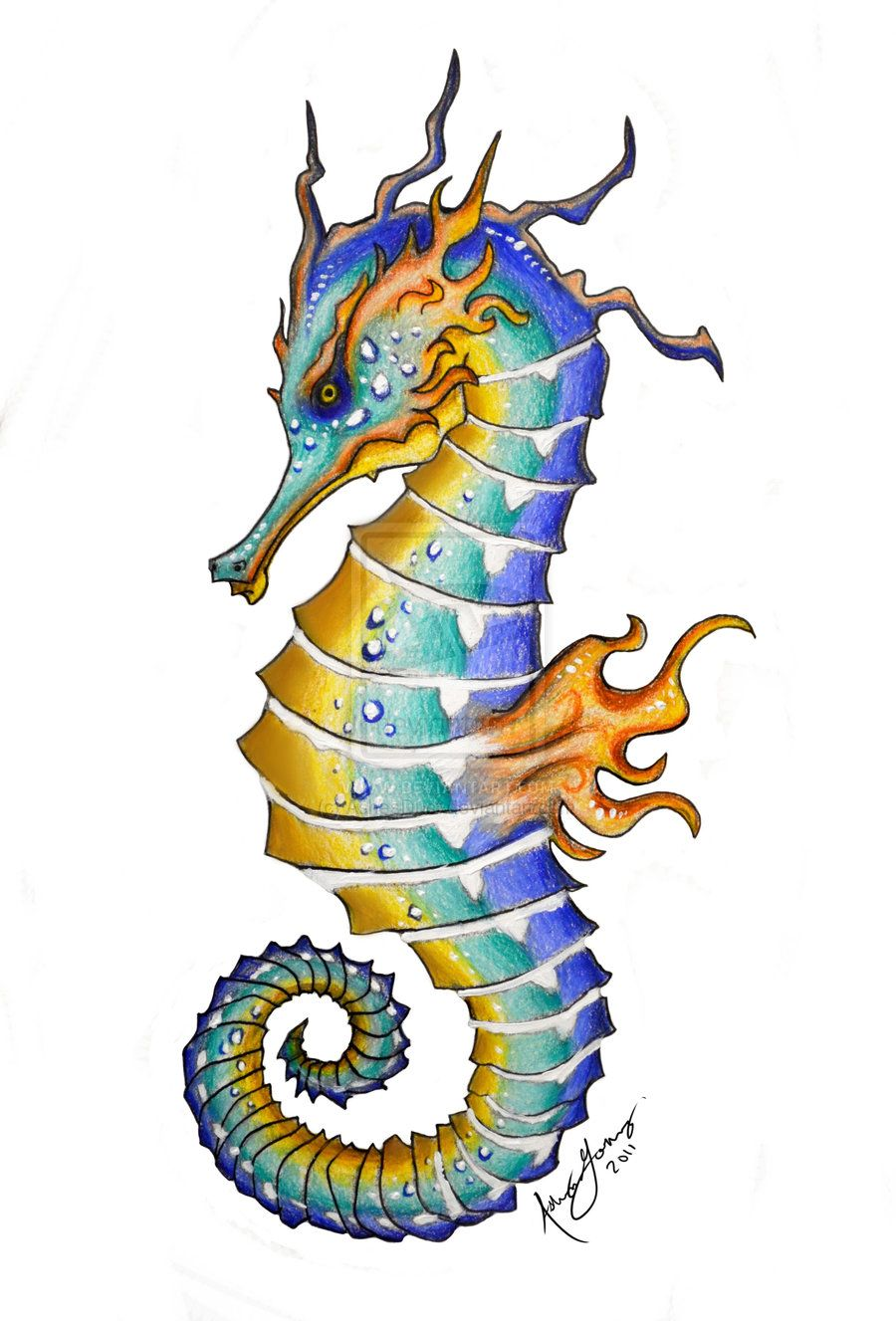 seahorse art king of seahorses by ashesdust on