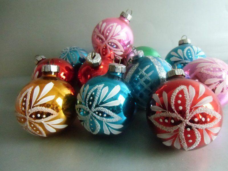 12 vintage weihnachtskugeln lauscha von susduett auf vintage weihnachten - Weihnachtskugeln vintage ...