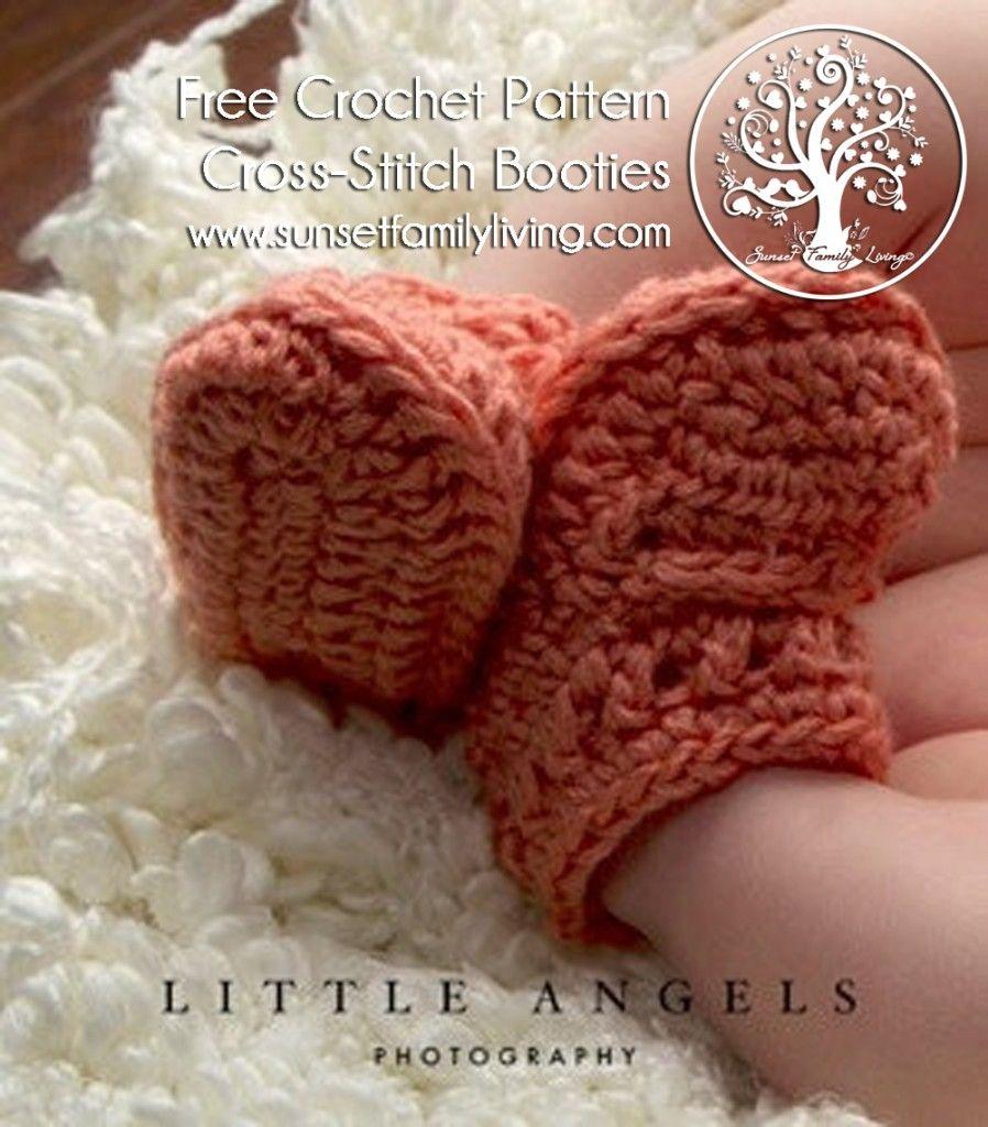 Punto de Cruz Botines Patrón | Niños | Pinterest | Zapatos, Crochet ...
