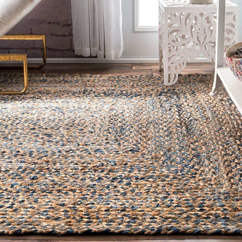 Destrie Hand Braided Cotton Blue Area Rug In 2019 Area