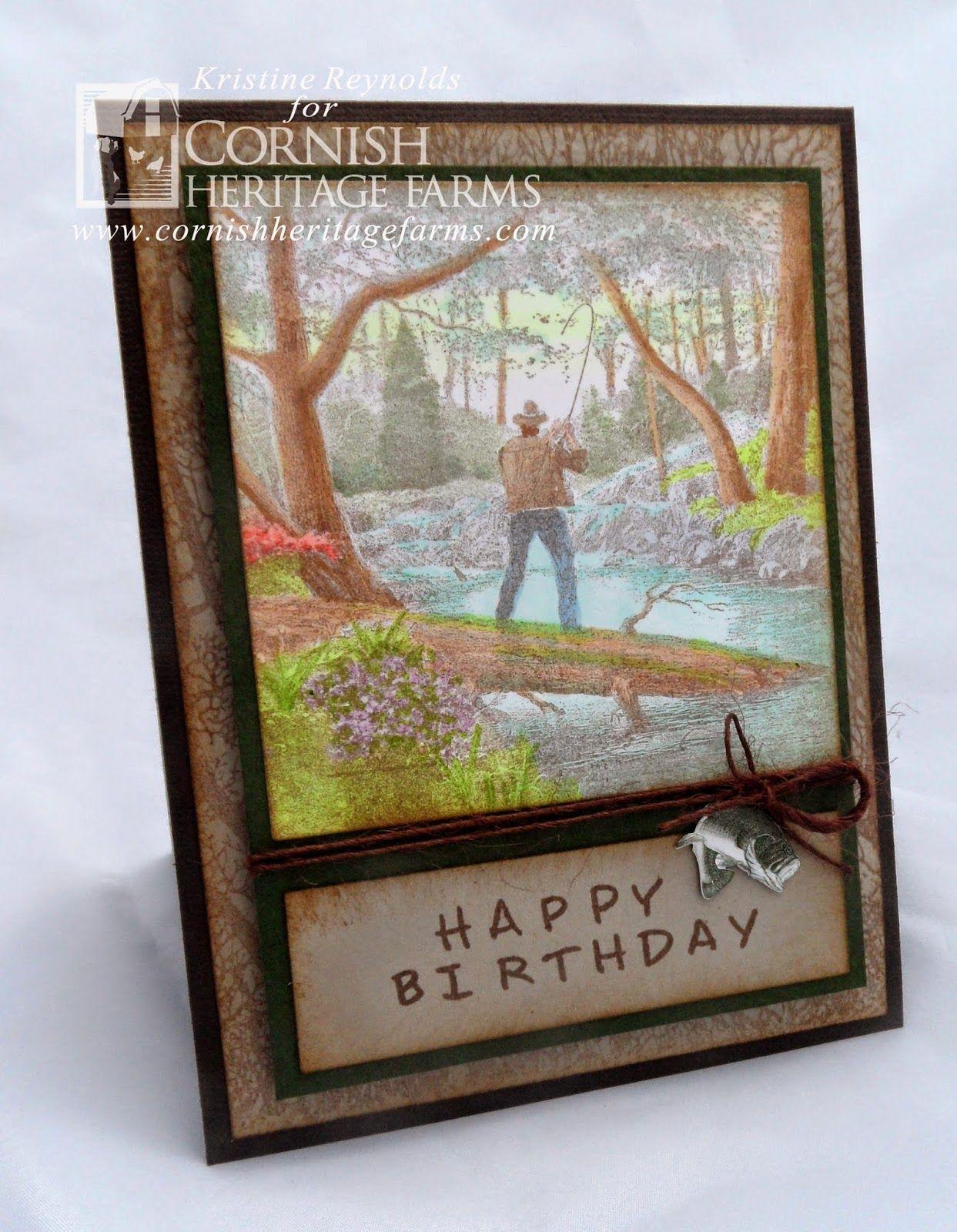 #Thomas Kinkade #Masculine card #Birthday