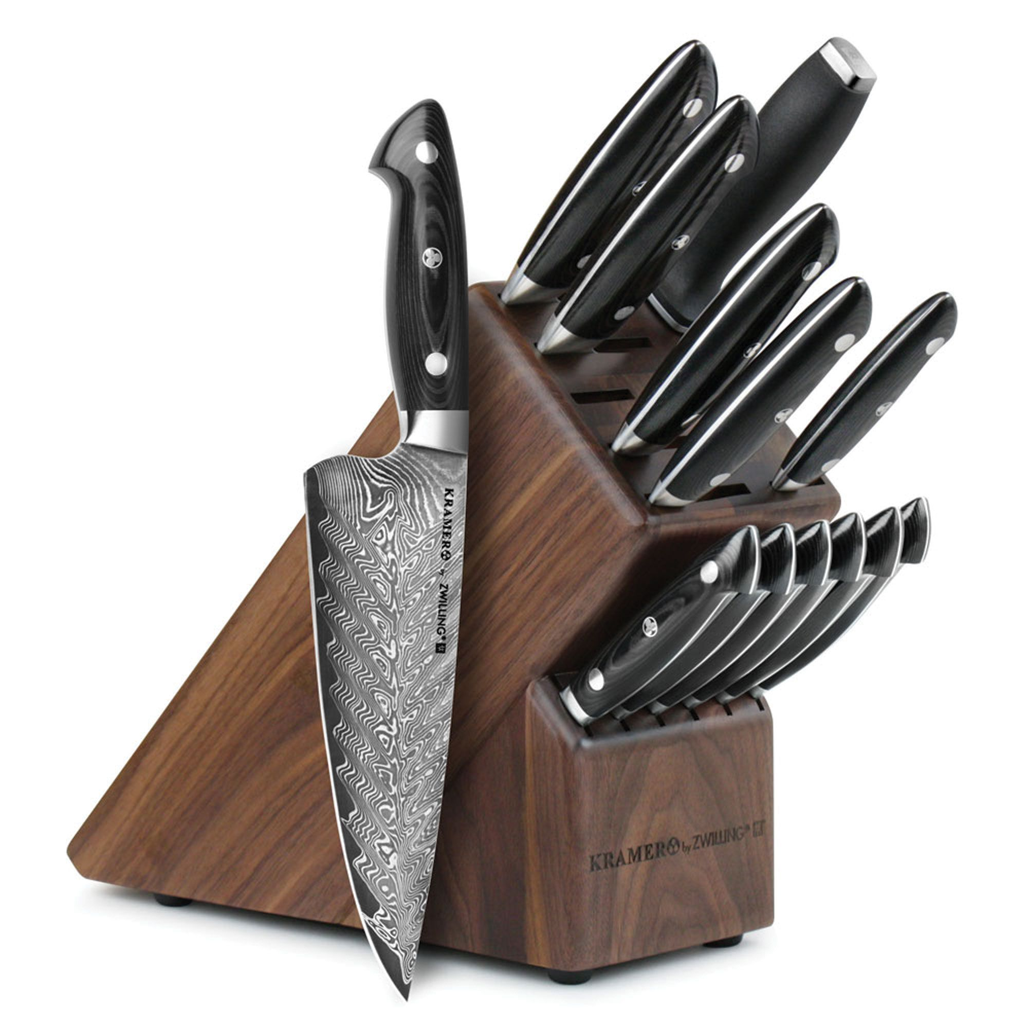 Bob Kramer Knives 14 Piece Damascus Chef S Knife Set By Zwilling Cutlery And More Kitchen Knives Damascus Kitchen Knives Best Kitchen Knives