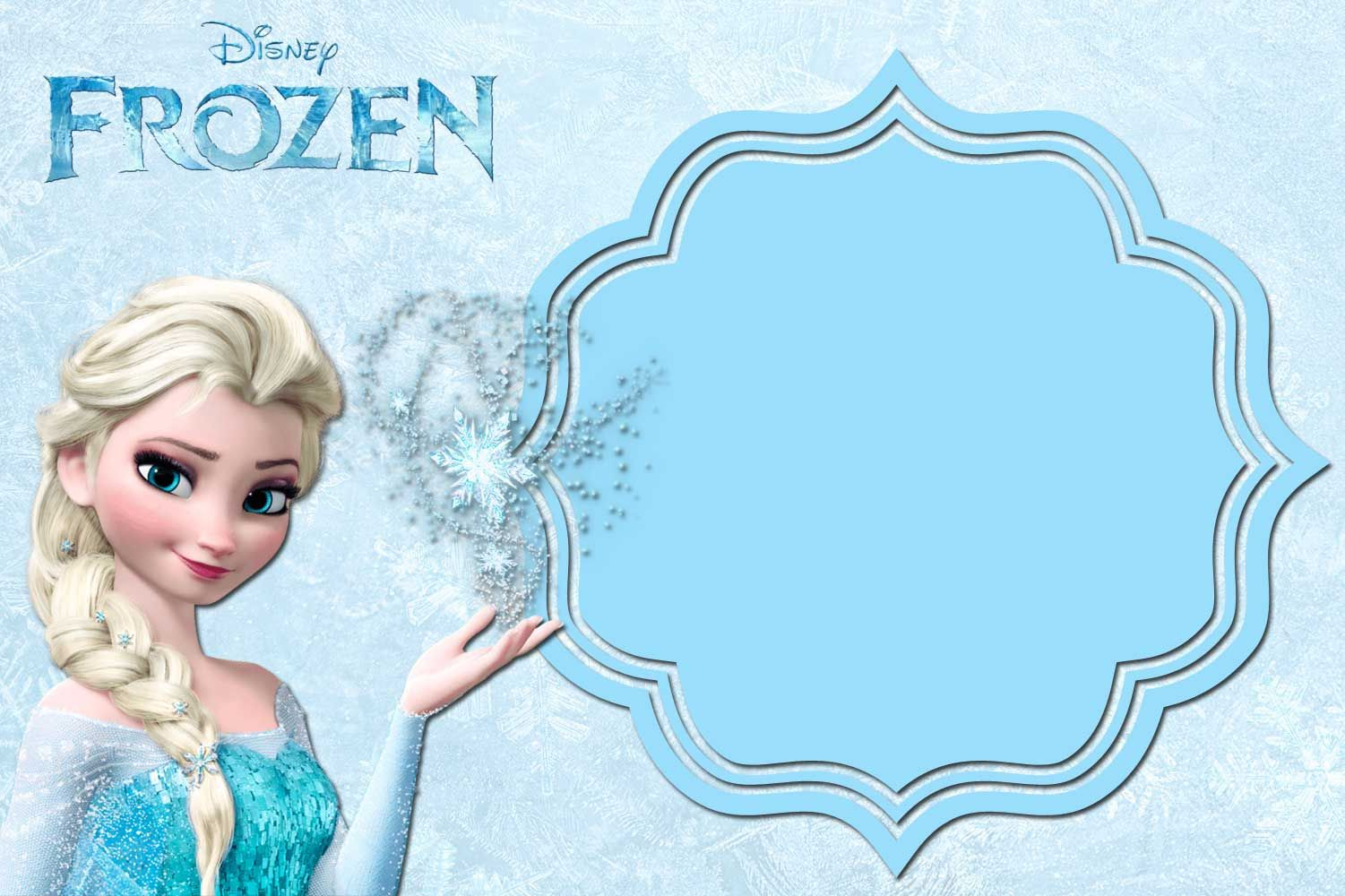 Free FREE Printable Frozen Anna And Elsa Invitation Templates