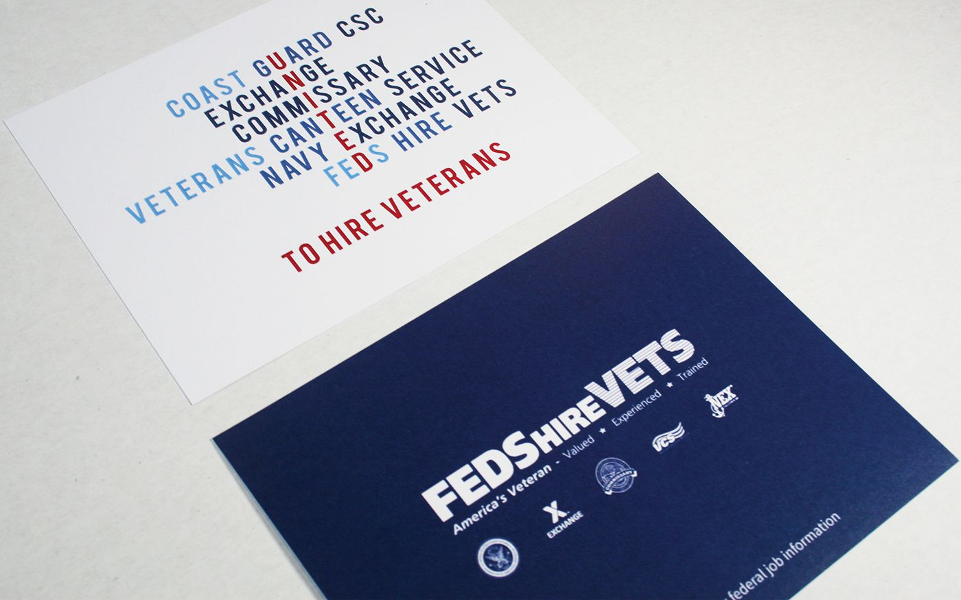 Feds hire vets recruiting takeaway on behance