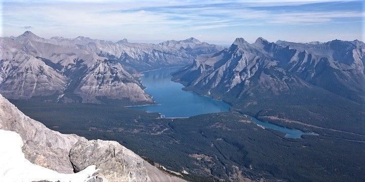 Lake Minnewanka, Alberta, Canadian Prairies, North America