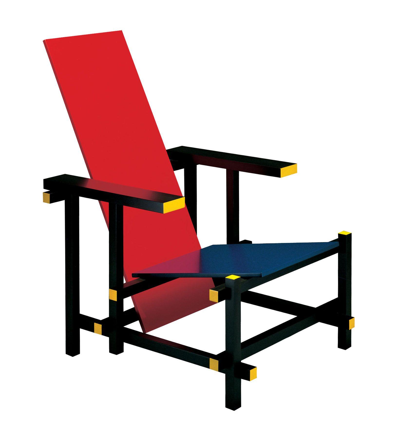 Nombre red blue chair arquitecto gerrit rietveld fecha for Muebles encantadores del pais elegante