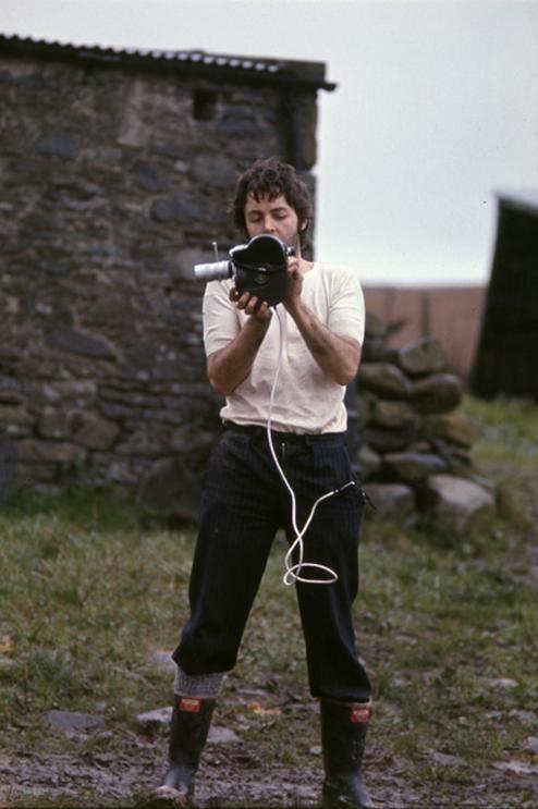 Paul McCartney (Taken by Linda on the farm in Campbeltown ...