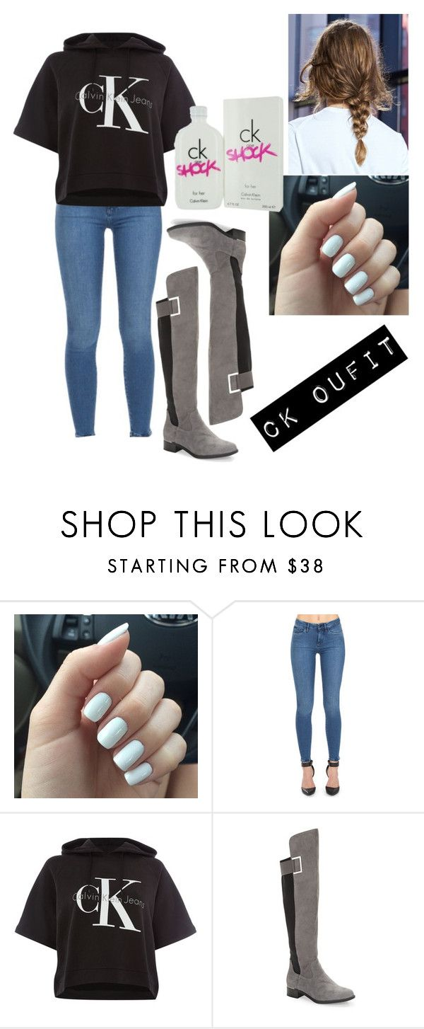 """Calvin Klein outfit"" by jenny-malik19 ❤ liked on Polyvore featuring Calvin Klein Jeans and Calvin Klein"