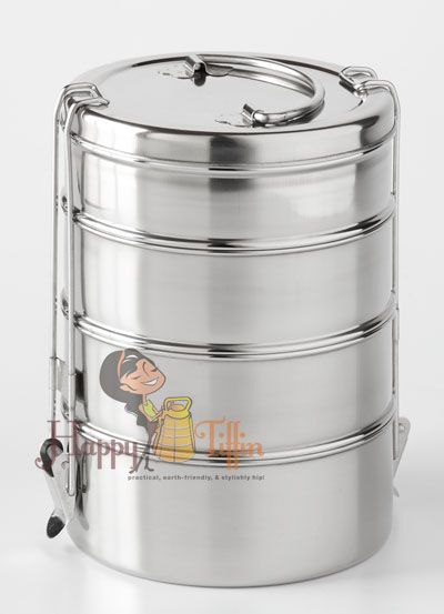Tiffin Lunch Boxes Multiple Sizes Stainless Steel Unique Design Stainless Steel Lunch Containers Lunch Containers Tiffin Lunch Box