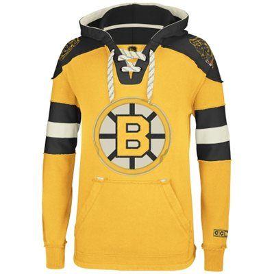 Reebok Boston Bruins CCM Pullover Hoodie - Gold  e550cb8a3