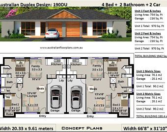 59 9 Bay Cottage 645 Sq Feet Or 59 9 M2 2 Bedroom 2 Bed Granny Flat Concept House Plans For Sale Under 1000 Sq Foot House Plans Duplex Design Duplex House Plans Duplex Floor Plans