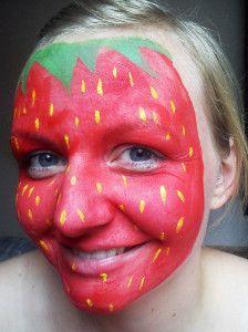 Erdbeere Fertig Geschminkt Fasching Pinterest Maquillaje Para