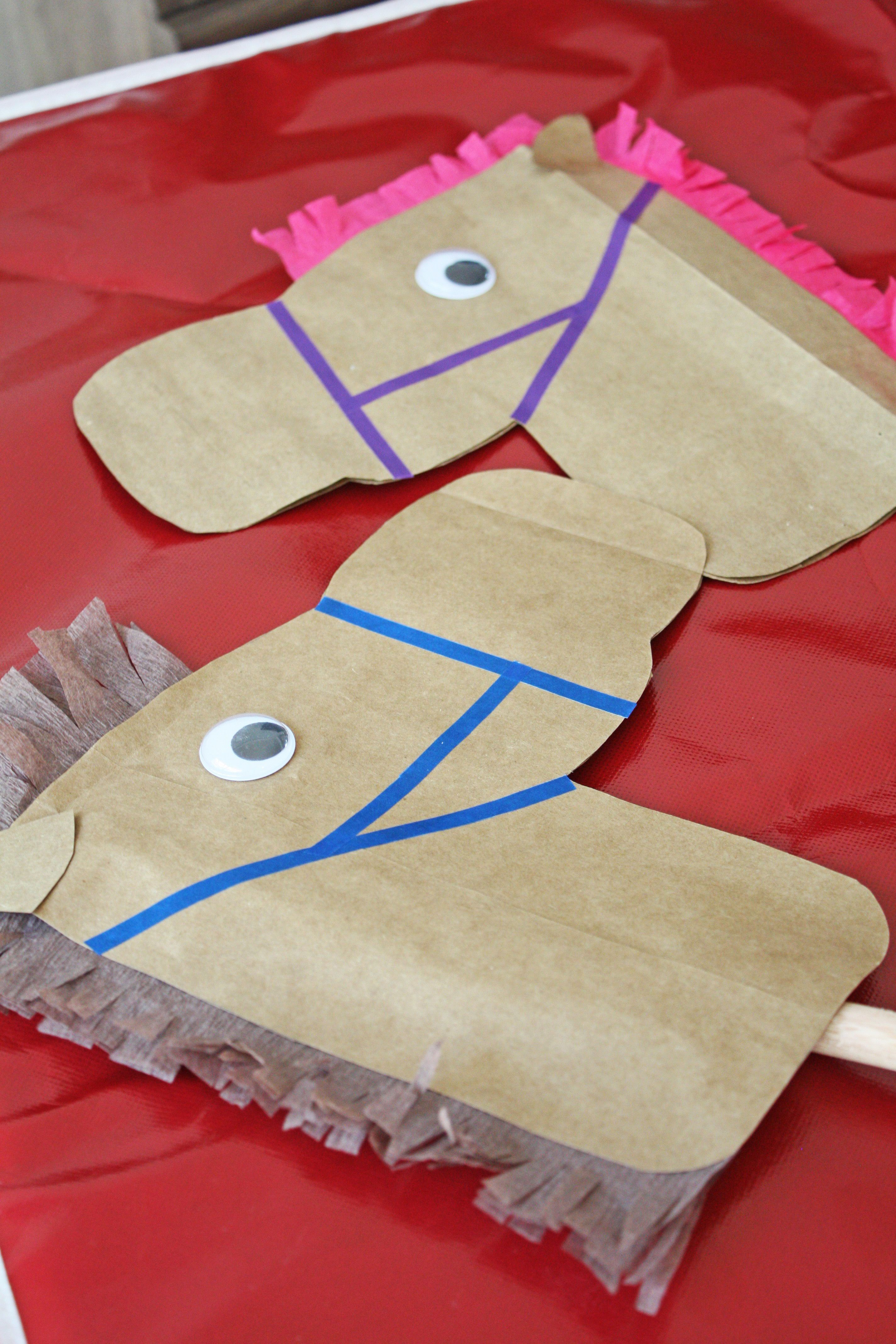 Diy Paper Horse Stick