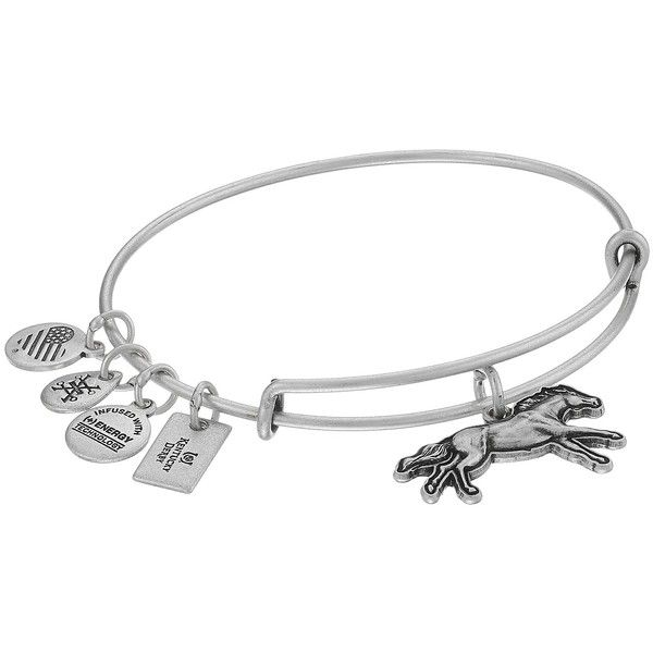 7a5421c7ef1595 Alex and Ani Victorious 3D Race Horse Charm Bracelet ($32) ❤ liked on  Polyvore featuring jewelry, bracelets, sports charms, animal charms, heart  charm ...