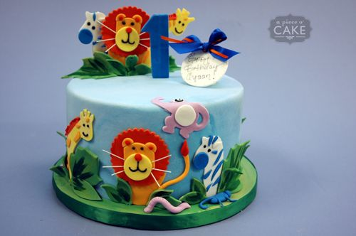 boys first birthday jungle cake Cake Creations Pinterest