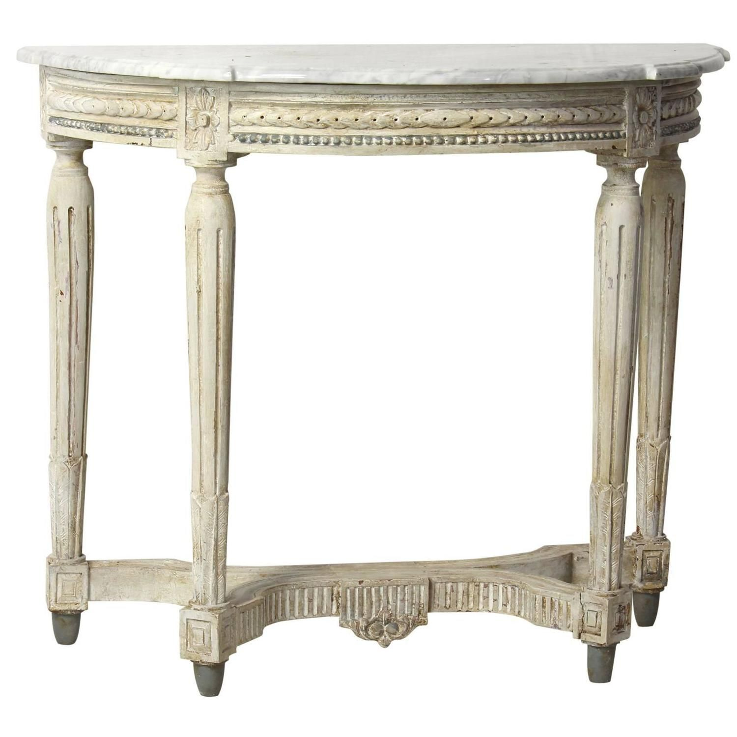 Louis Xvi Style Demilune Console Table From A Unique Collection Of Antique And Modern Demi Lune Tables At