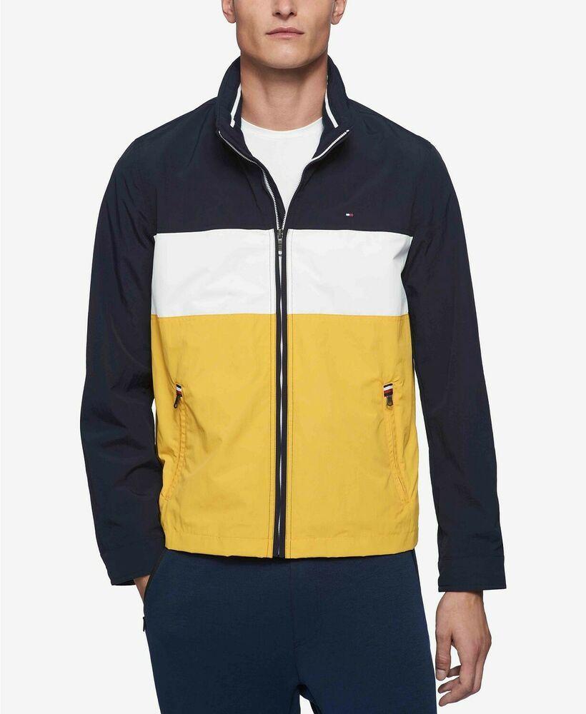 Ebay Sponsored 295 Tommy Hilfiger Men S Blue White Logo Mock Collar Zip Taslan Coat Jacket 2xl Tommy Hilfiger Man Mens Outdoor Jackets Tommy Hilfiger [ 1000 x 820 Pixel ]