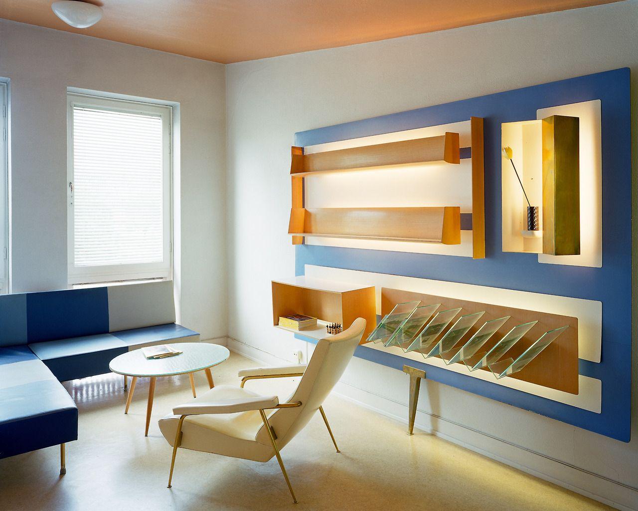 Gio Ponti Italian Cultural Institute Stockholm 1954 Mcm  # Muebles Kasa Design