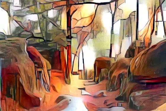 Rochers dans la forêt by Danielle ARNAL | Artfinder
