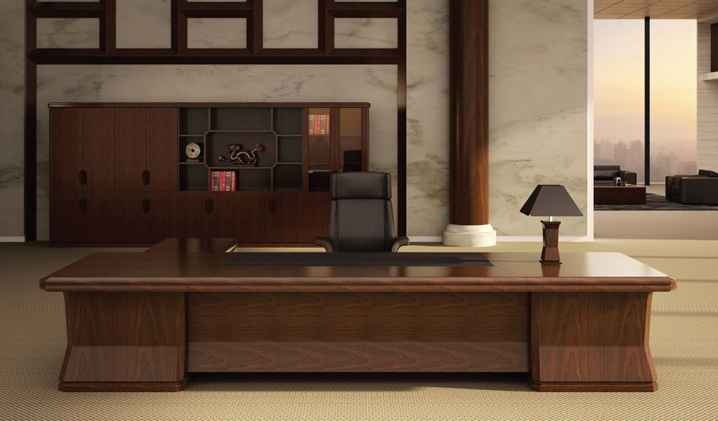 11 Feet Office Table In Walnut Office Table Design Classic