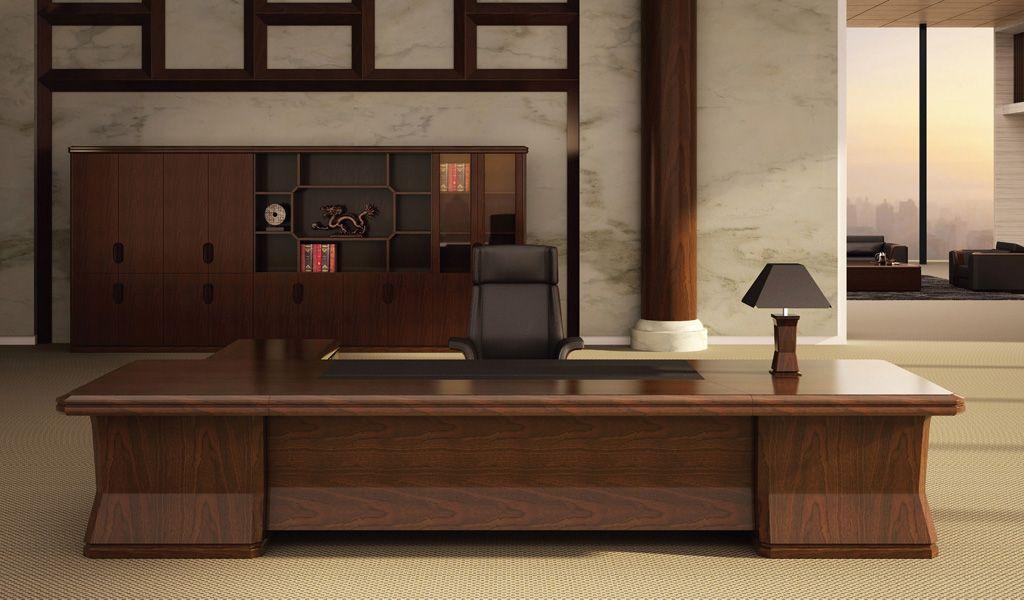 Royale 11 Feet Office Table In Rich Walnut Office