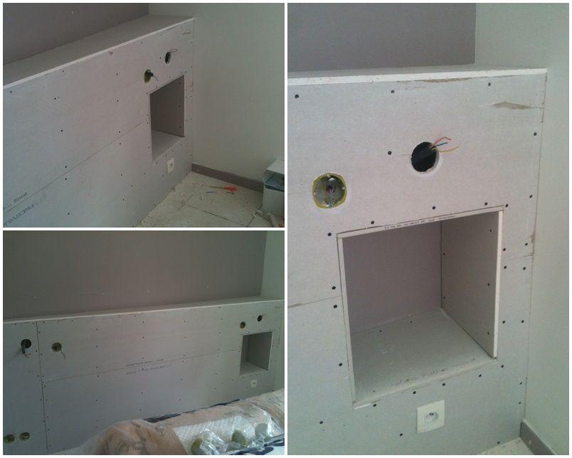 pour pouvoir rattrapé un faux équerrage sur le mur ou va ce - fabriquer meuble en placo