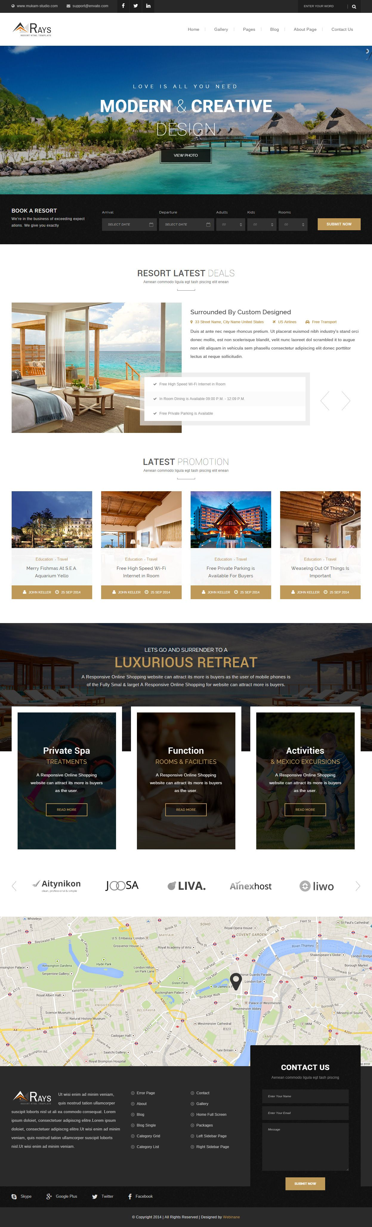 Rays is premium responsive parallax html5 hotel template retina rays is premium responsive parallax html5 hotel template retina ready parallax scrolling google pronofoot35fo Gallery