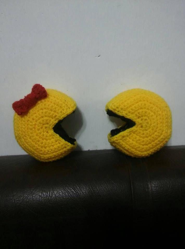 Patrón gratis de Pac-man y Ms Pac-man #amigurumi #Pacman #MsPacman ...