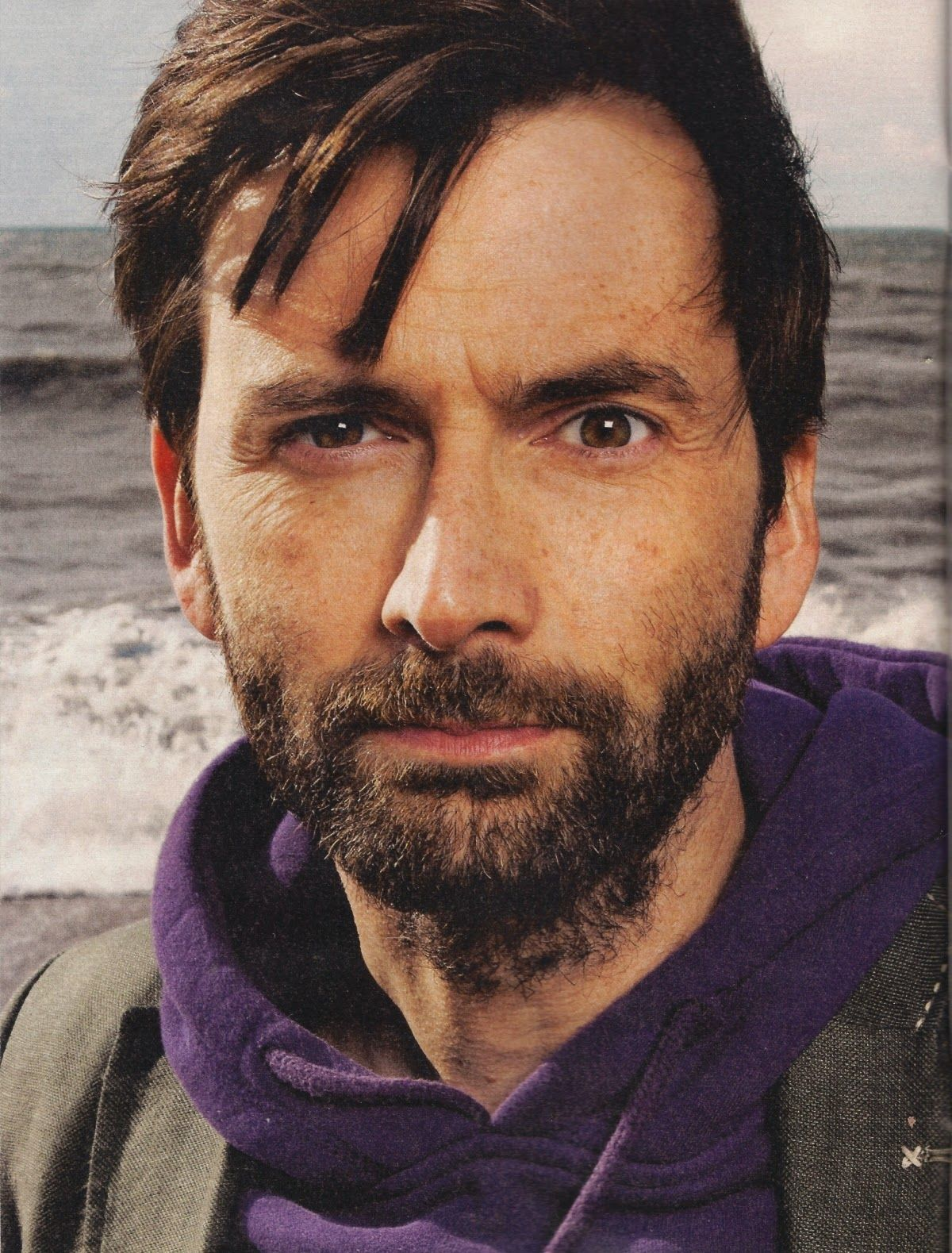 Scans of David Tennant's interview in Observer magazine