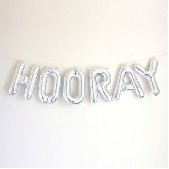 Hooray, Balloon Kit, Congratulations, Graduation Party, Engagement - job promotion announcement