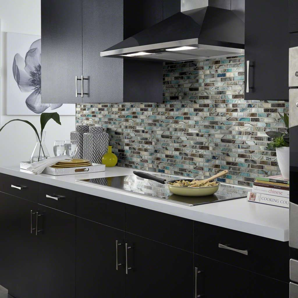 Mercury Glass Tile Stone Mica Gallery Image 2 Kitchen Wall
