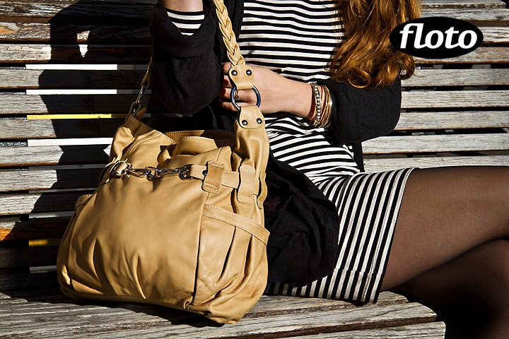 Floto nappa leather is softer and pops in natural light - Catania Bag