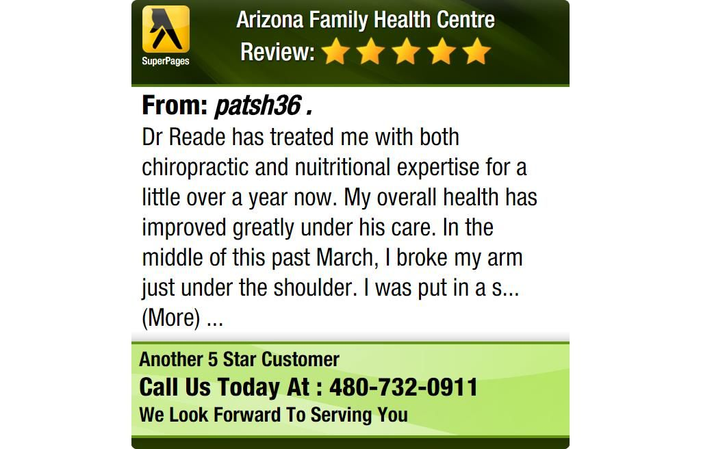 Dr reade has treated me with both chiropractic and