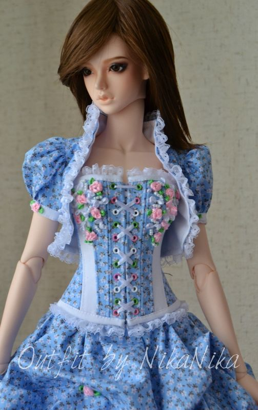 Outfit with a corset for bjd SG Soom.