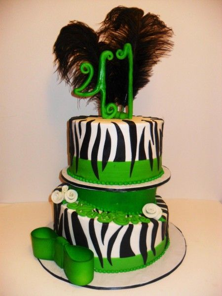 zebra print cake  www.DarlingCake.com