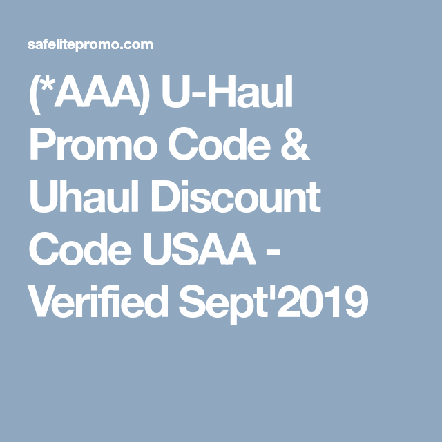 photo relating to Uhaul Printable Coupon known as AAA) U-Haul Promo Code Uhaul Discounted Code USAA - Tested