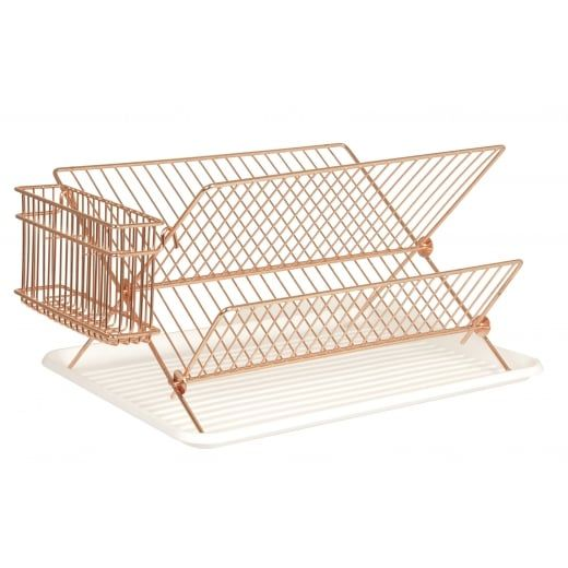 Nice Copper Wire Dish Rack Drainer With Tray