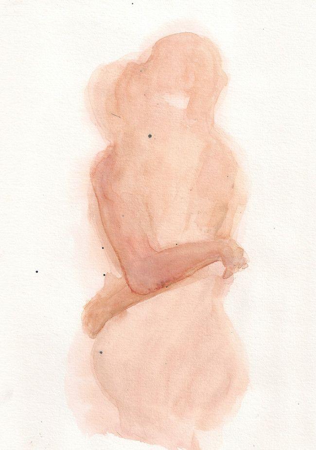 minimalstic watercolor painting by François-Henri Galland