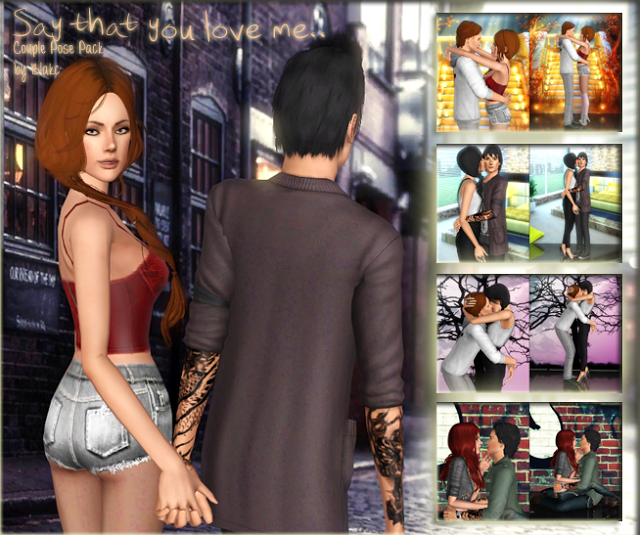 Blakc's Pose Place: Say that you love me   Couple Pose Pack