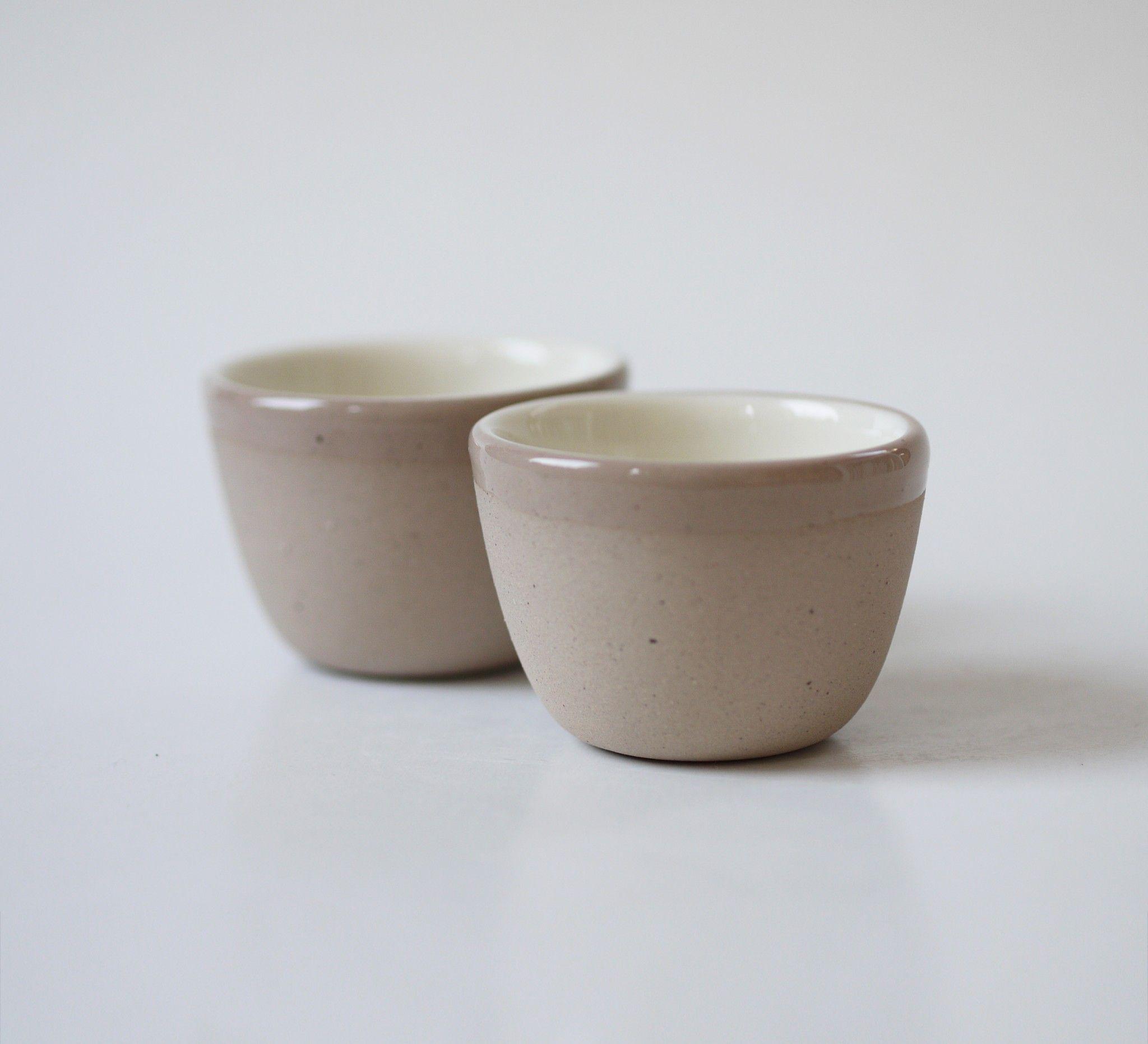 Set of two Small Sand Series Cups  Ceramic materials, Ceramics